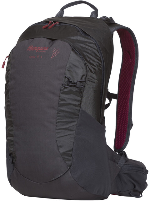 Bergans W's Senja 14 Daypack Solid Charcoal/Burgundy